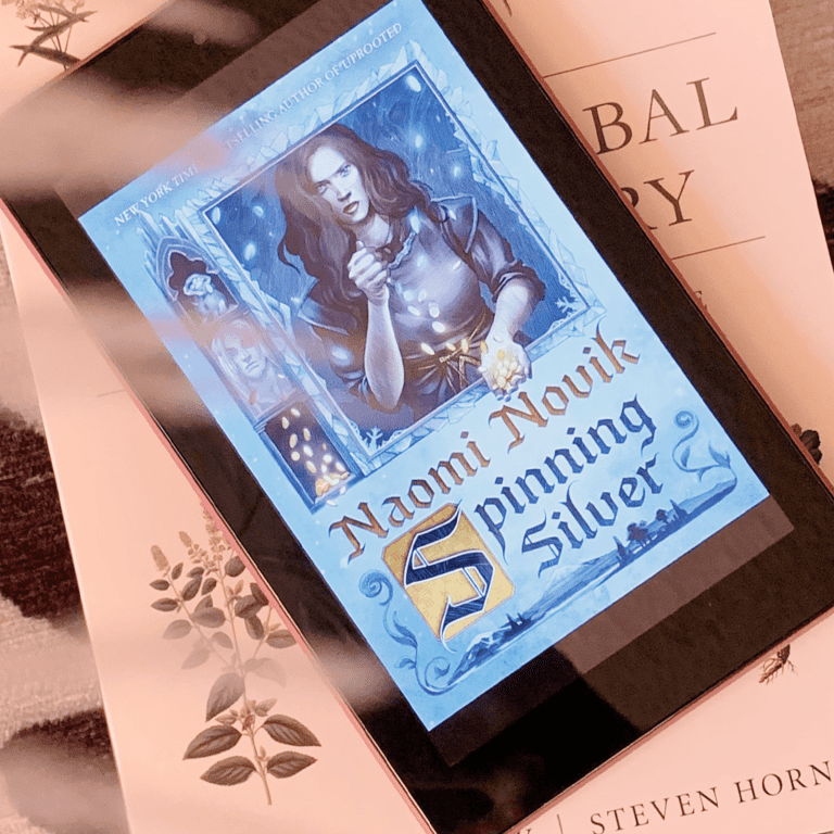 Photo of Spinning Silver ebook on a Kindle e-reader