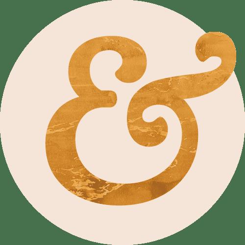 Books & Alchemy Brandmark Logo Background Gold